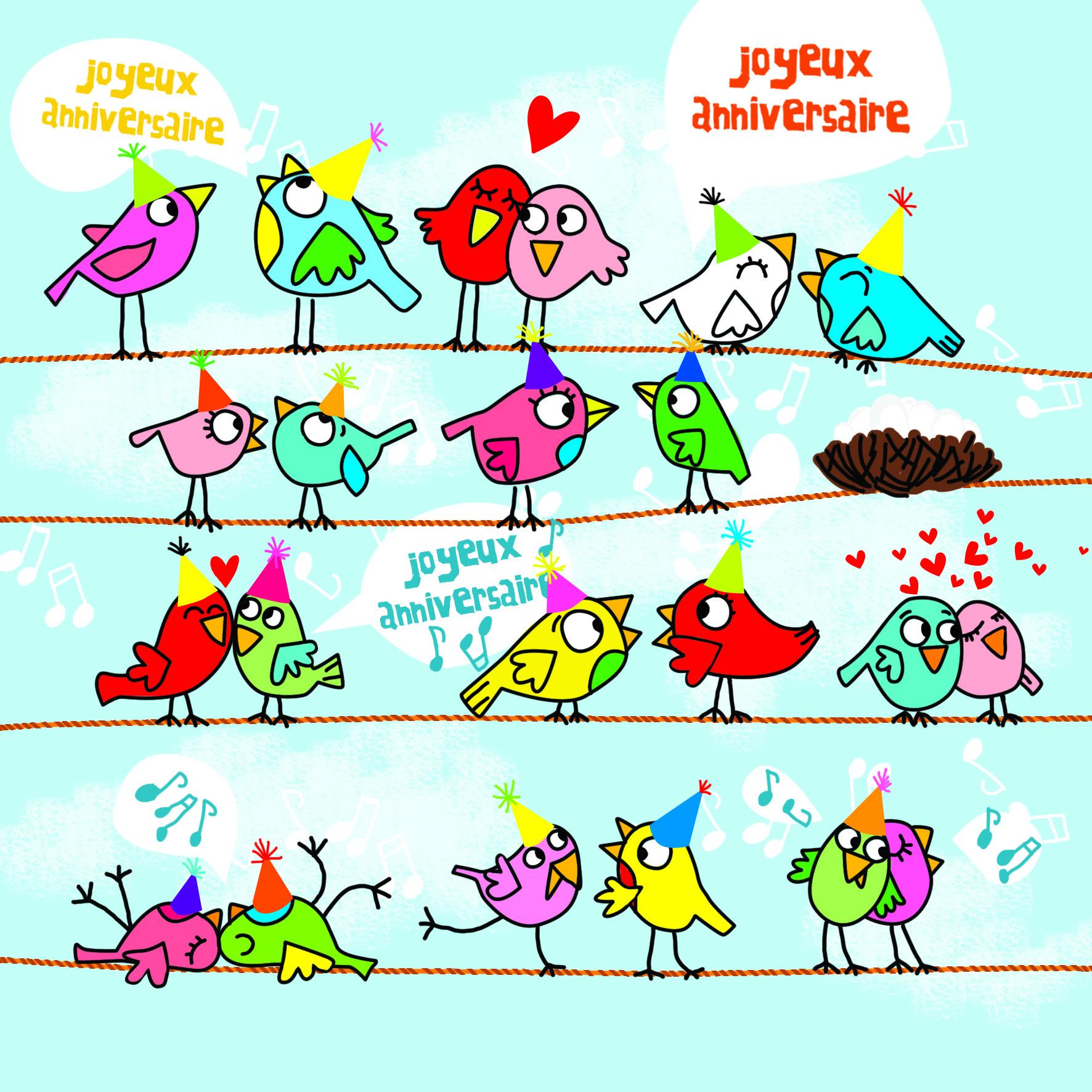 Carte Anniversaire Cecile Drevon Joyeux Anniversaire Editions Cote Bord Eau