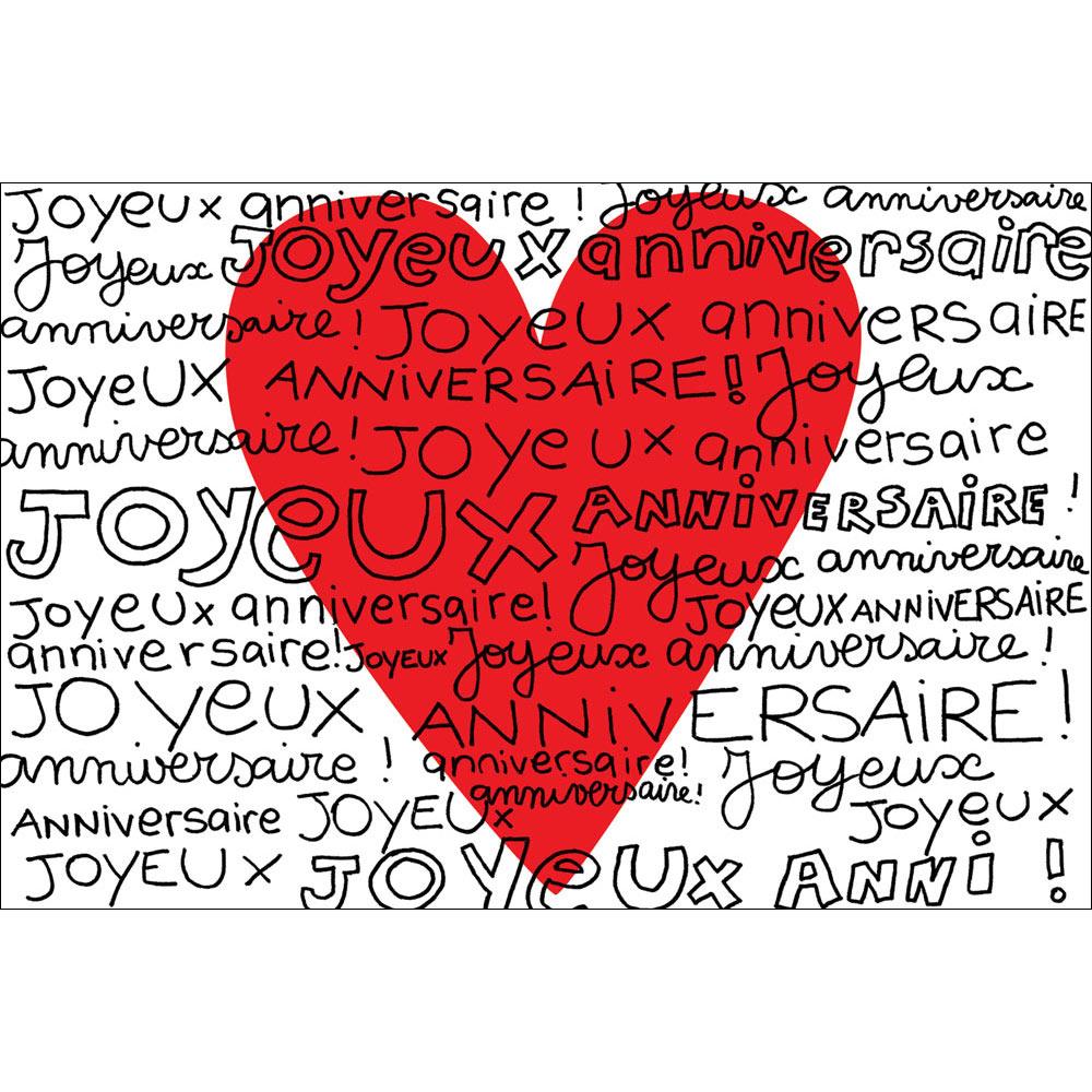 Carte Anniversaire Cecile Drevon Joyeux Anniversaire Coeur Editions Cote Bord Eau