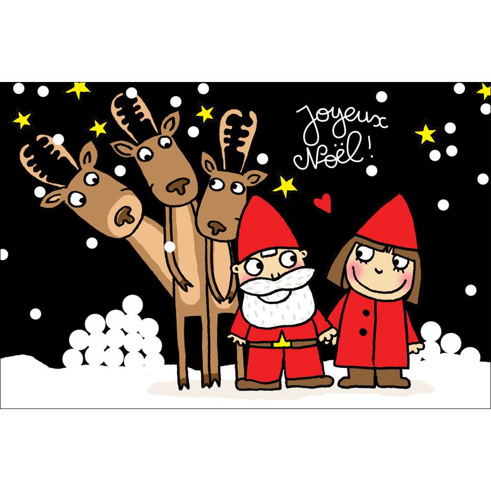 Joyeux Noel Mere Noel.Magnet Cecile Drevon Joyeux Noel