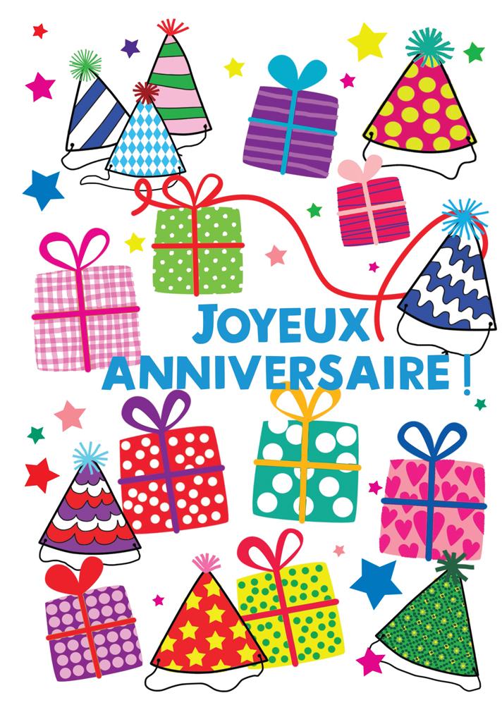 Grande Carte Anniversaire Cecile Drevon Joyeux Anniversaire Paquets Editions Cote Bord Eau