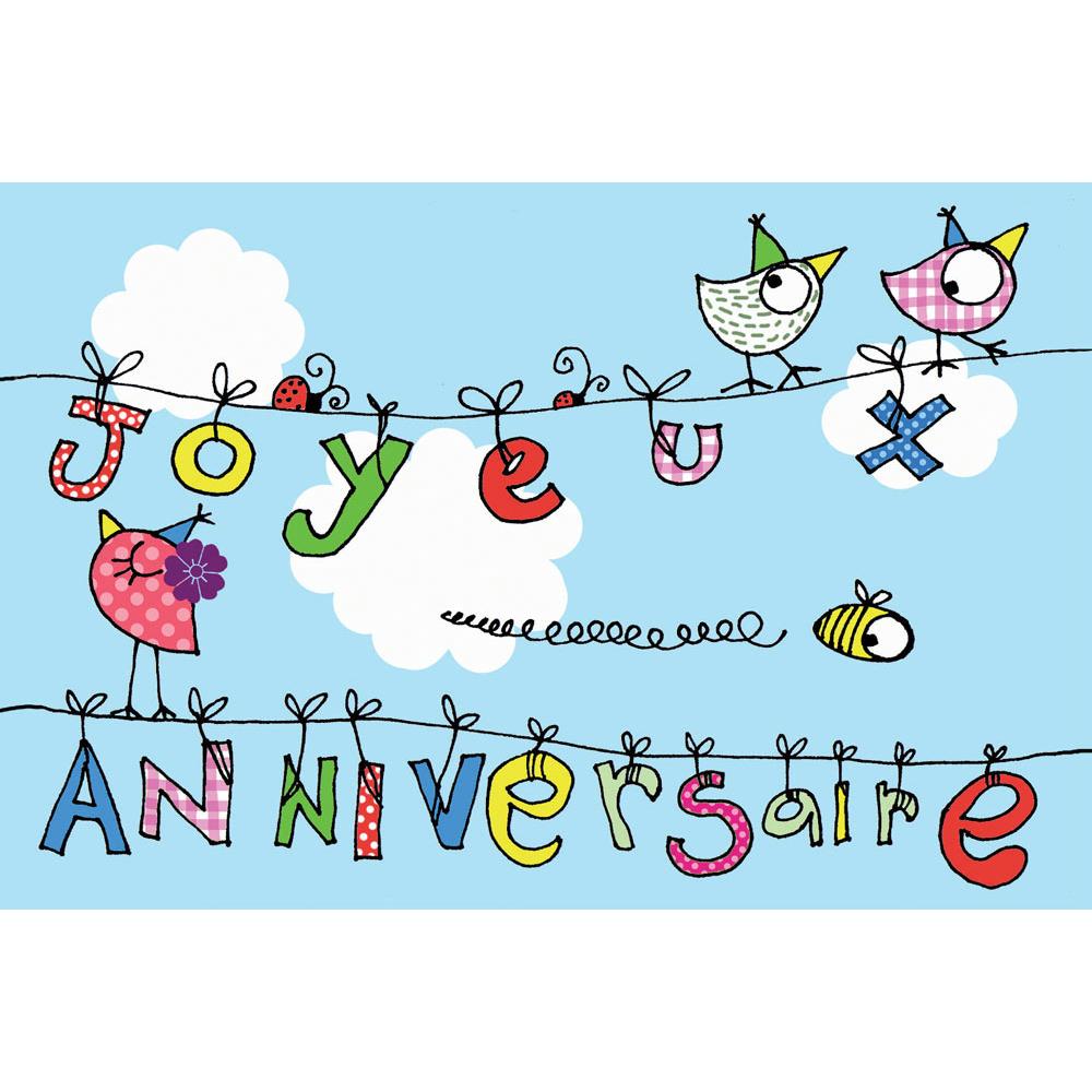 Carte Anniversaire Cecile Drevon Joyeux Anniversaire Fil A Linge Editions Cote Bord Eau