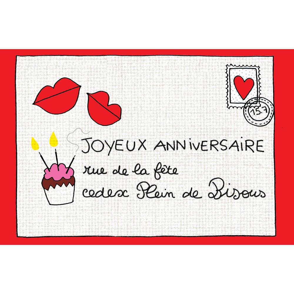 Carte Anniversaire Cecile Drevon Joyeux Anniversaire Correspondance Editions Cote Bord Eau