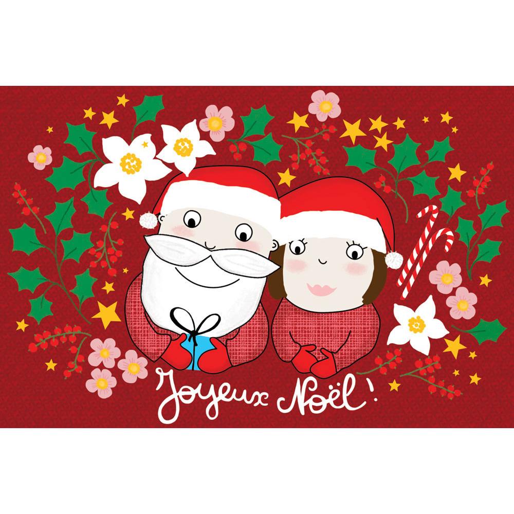 Joyeux Noel Mere Noel.Carte Noel Cecile Drevon Joyeux Noel Pere Et Mere Noel