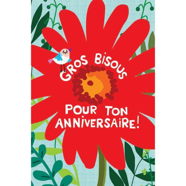 Carte Anniversaire Cecile Drevon Anniversaire Oiseau Fleur