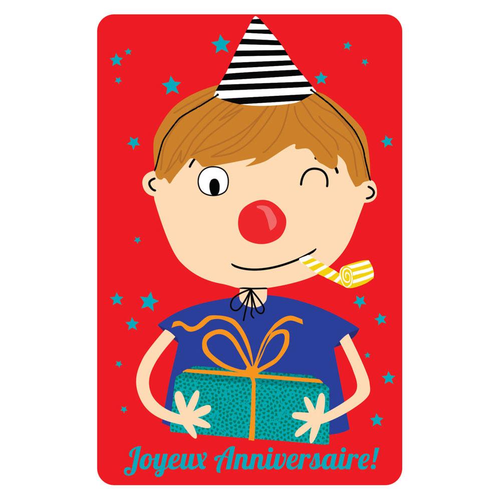 Carte Anniversaire Cecile Drevon Anniversaire Clown Editions Cote Bord Eau