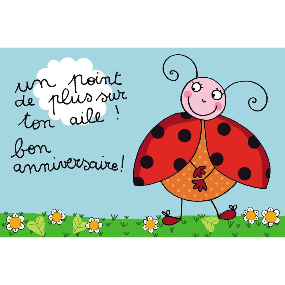 Carte Anniversaire.Carte Anniversaire Cecile Drevon Bon Anniversaire Coccinelle