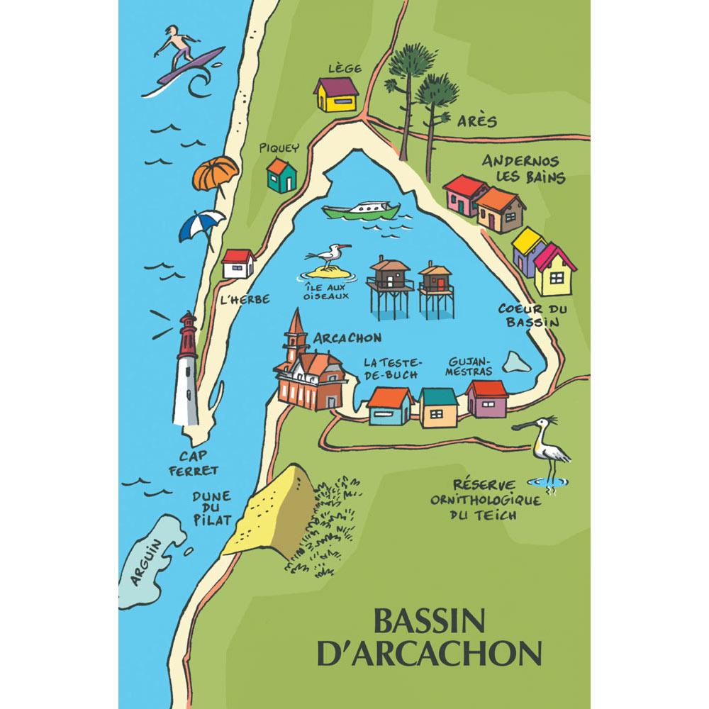 "bassin d arcachon carte MagMEB Matyo Emmel Bast ""Carte du Bassin d'Arcachon"