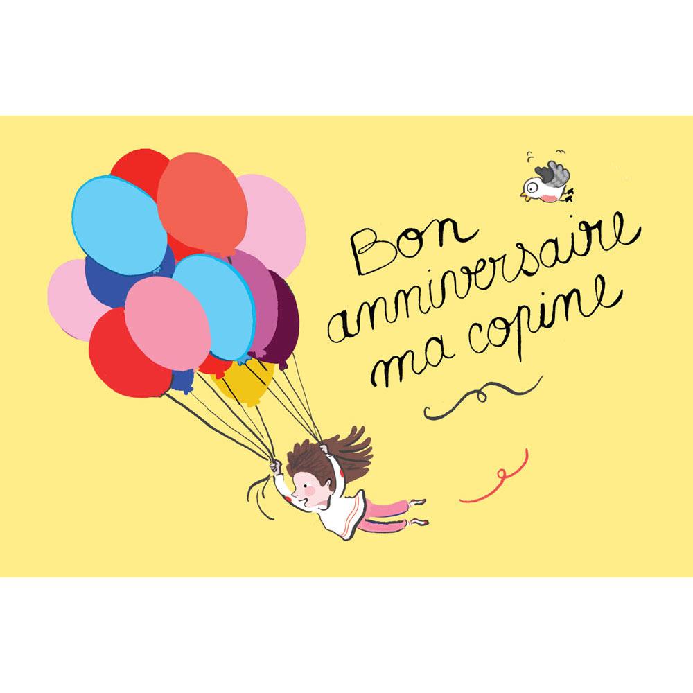 """Carte anniversaire Mayana Itoïz """"Bon anniversaire ma copine ..."""