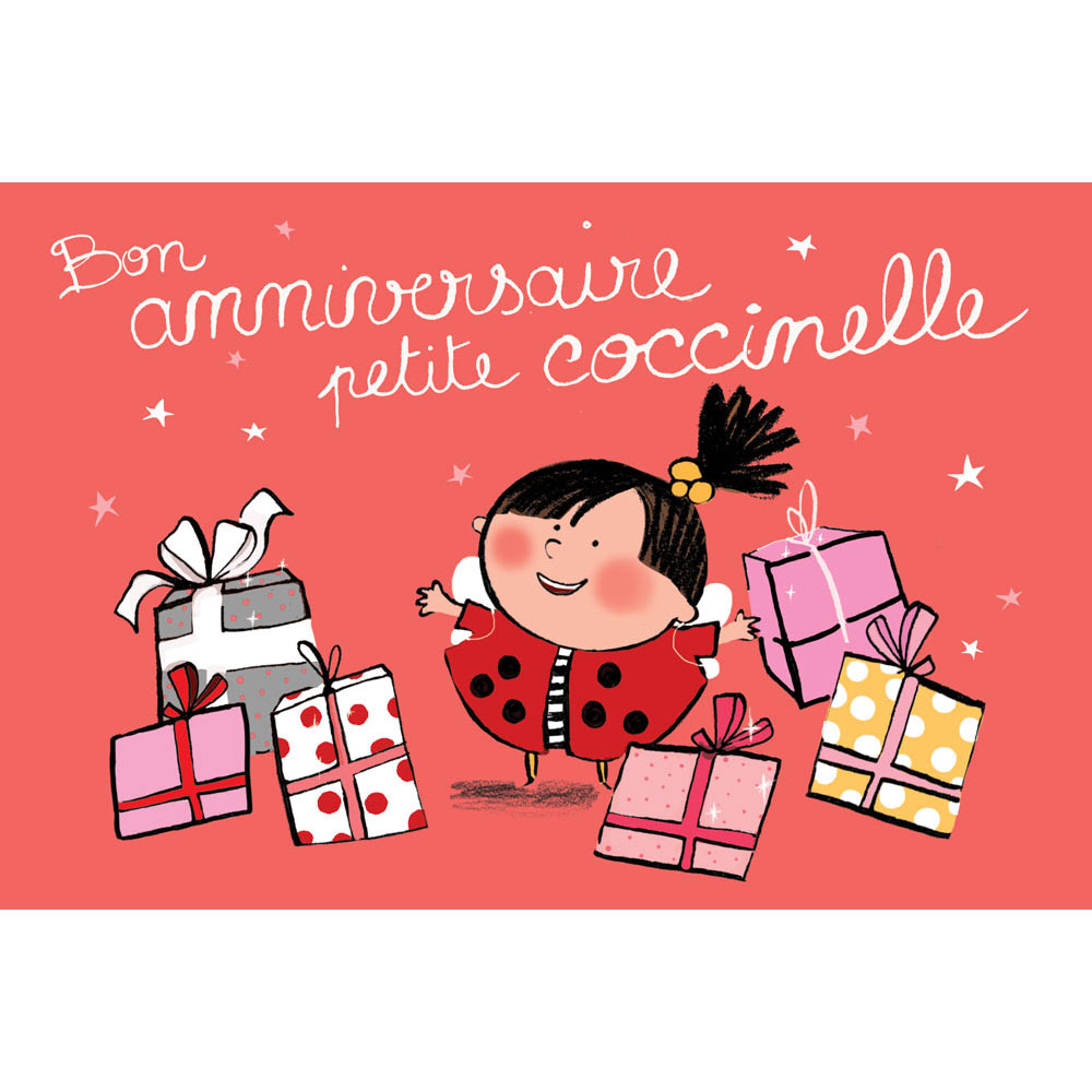 Carte Anniversaire Mayana Itoiz Bon Anniversaire Coccinelle Editions Cote Bord Eau