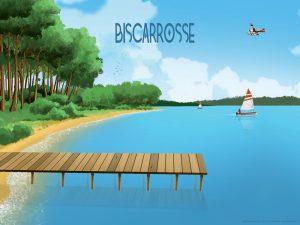 Affiche 30x40 Biscarrosse