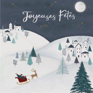 carte joyeuses fêtes winter village