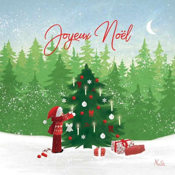 sapin de noël carte Joyeux Noël